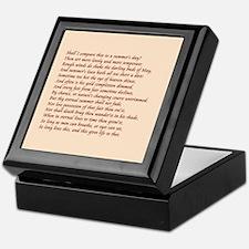 Sonnet number 18 Keepsake Box