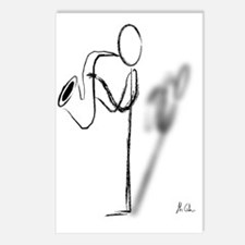 Sax Man Postcards (Package of 8)