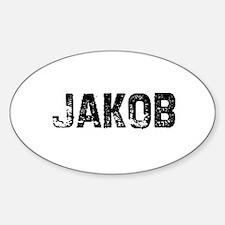 Jakob Oval Decal