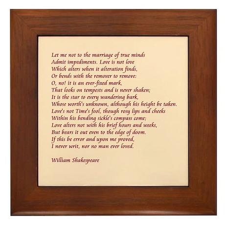 Sonnet 116 Framed Tile