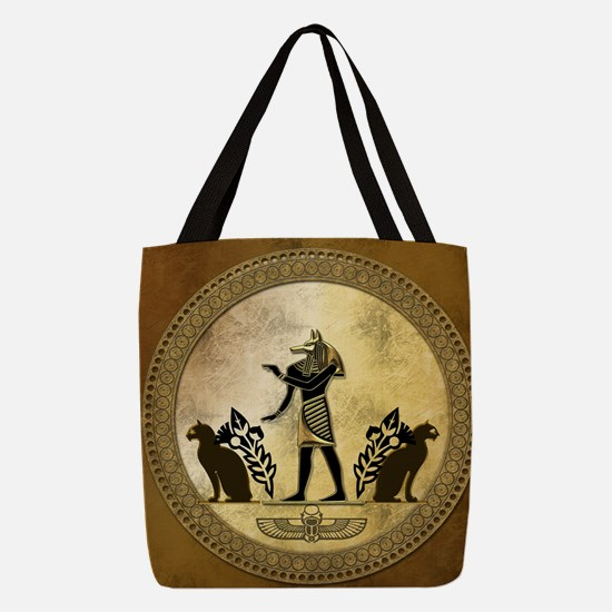 Anubis the egyptian god, gold and black Polyester