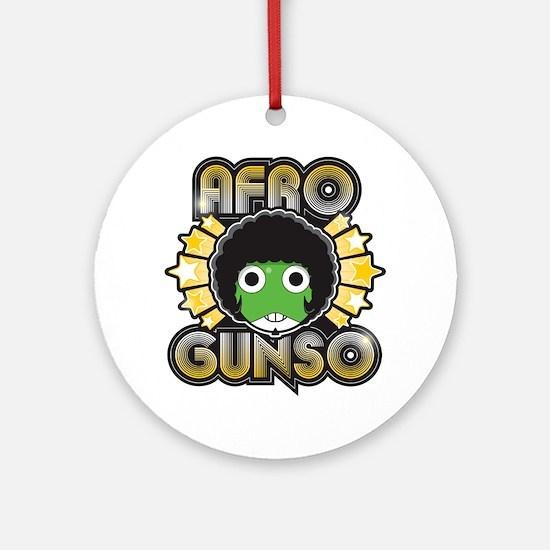 Afro Gunso Round Ornament