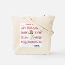 Catholic and Christian (Teal) Tote Bag