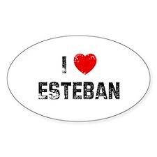 I * Esteban Oval Decal