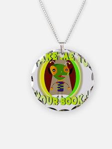 Alien reader Necklace Circle Charm