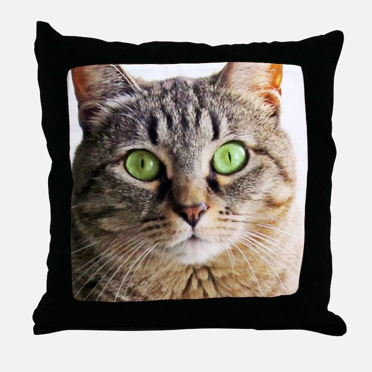 Green Eyed MonsterG Throw Pillow