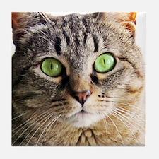Green Eyed MonsterG Tile Coaster