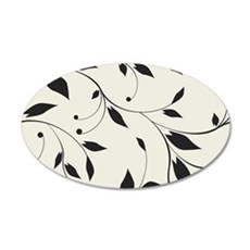 Elegant Leaves 35x21 Oval Wall Decal
