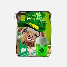 Bulldogs Lucky St. Patricks Day iPad Sleeve