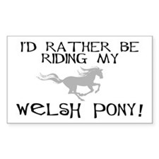 Rather-Welsh Pony! Rectangle Decal