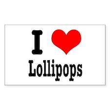 I Heart (Love) Lollipops Rectangle Decal