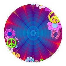 hippie frame Round Car Magnet