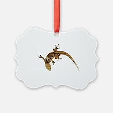 Wooden Gecko Ornament