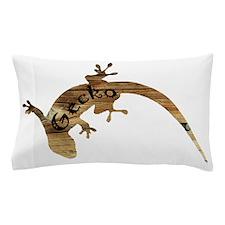 Wooden Gecko Pillow Case