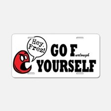 President - Go F Yourself Aluminum License Plate