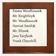 Emma Names Framed Tile