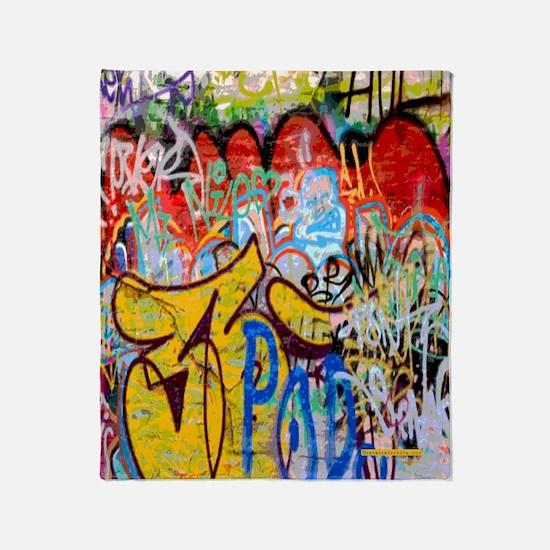 Colorful Graffiti Throw Blanket
