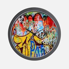 Colorful Graffiti Wall Clock