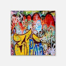 "Colorful Graffiti Square Sticker 3"" x 3"""
