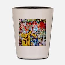 Colorful Graffiti Shot Glass