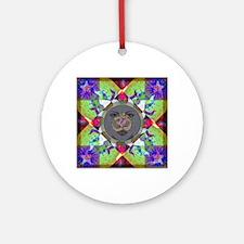 Om Sun Mandala Round Ornament