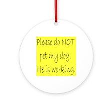 """""""Male Service Dog"""" Ornament (Round)"""