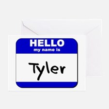 hello my name is tyler  Greeting Cards (Package of