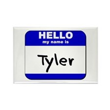 hello my name is tyler Rectangle Magnet