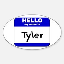 hello my name is tyler Oval Decal