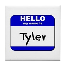 hello my name is tyler  Tile Coaster