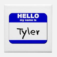 hello my name is tyler  Tile Coaster