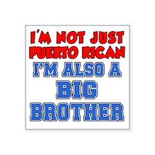 "Not Just Puerto Rican Big B Square Sticker 3"" x 3"""