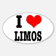 I Heart (Love) Limos Oval Decal