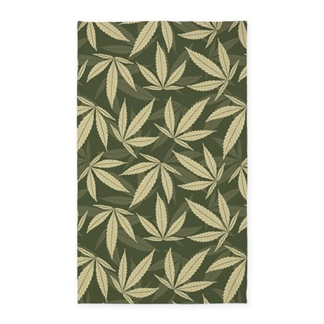 Marijuana Rug Home Decor