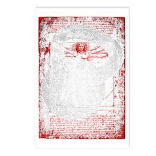 Kettlebell Vitruvian Man  Postcards (Package of 8)