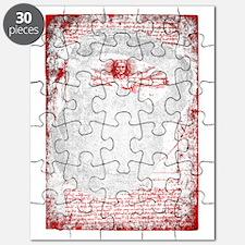 Kettlebell Vitruvian Man - for dark garment Puzzle