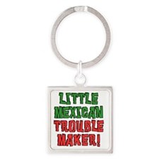 Little Mexican Trouble Maker Square Keychain