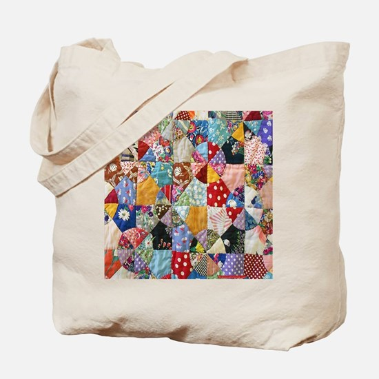 Colorful Patchwork Quilt Tote Bag