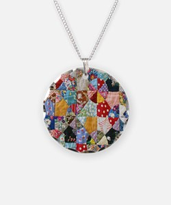 Colorful Patchwork Quilt Necklace