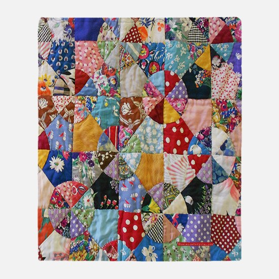 Colorful Patchwork Quilt Throw Blanket