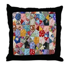 Colorful Patchwork Quilt Throw Pillow