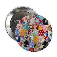 "Colorful Patchwork Quilt 2.25"" Button"