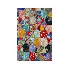 Colorful Patchwork Quilt Rectangle Magnet