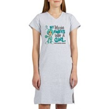 Wife Fights Like Girl Cervical  Women's Nightshirt