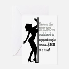 Pipeline Support Single Moms Greeting Card