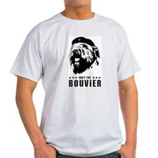 Obey the Bouvier! Ash Grey T-Shirt