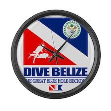 Dive Belize Large Wall Clock