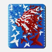 The Butterfly Flag PosterP Mousepad