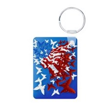 The Butterfly Flag PosterP Keychains