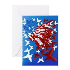 The Butterfly Flag PosterP Greeting Card